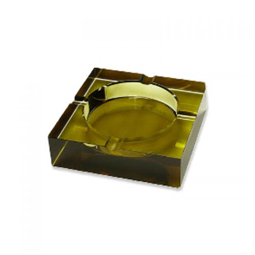 Crystal Cigar Ashtray (4 cigar) brown tint